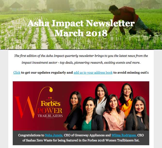 Asha Impact - Providing Life and Hope to the Underserved